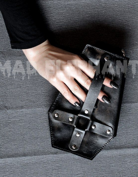 gothic coffin wallet