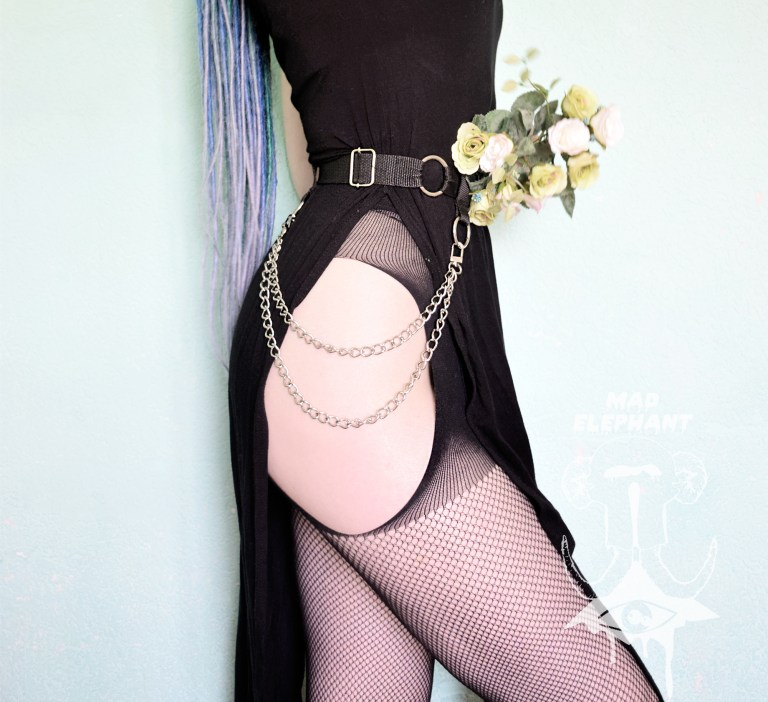 gothic belt with chains