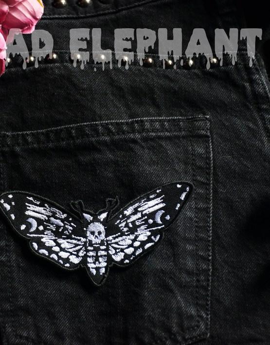 death head moth applique