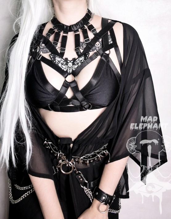 elastic bra harness