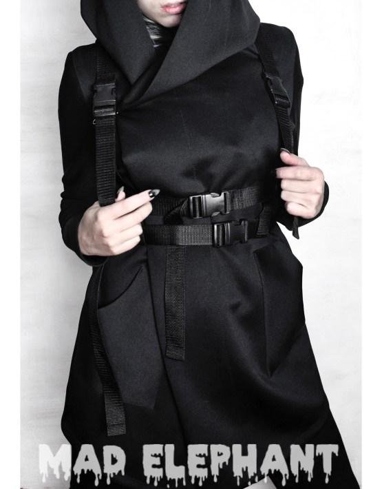 black nylon body harness