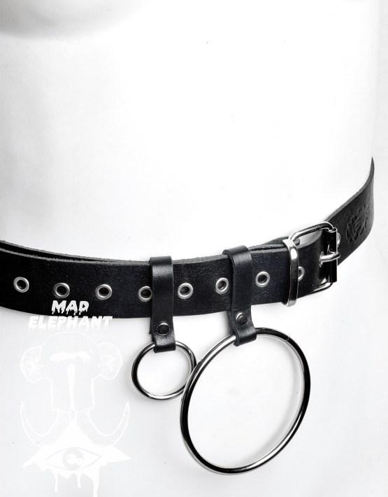 women's o ring belt leather