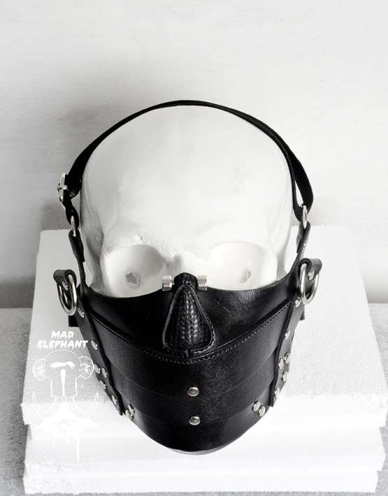 steampunk leather face mask
