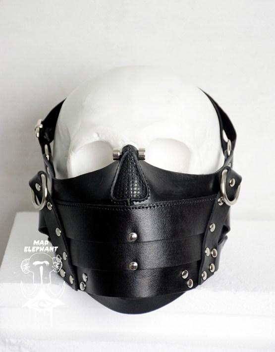 steampunk half skull mask