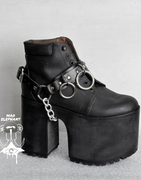 boot chains and straps genuine leather