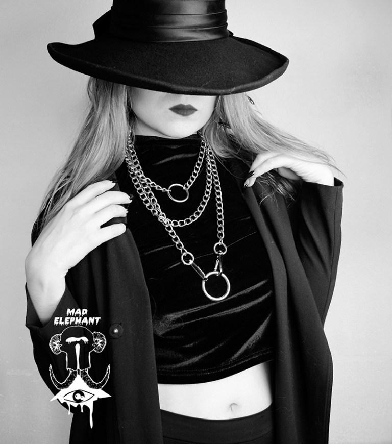 goth choker chain