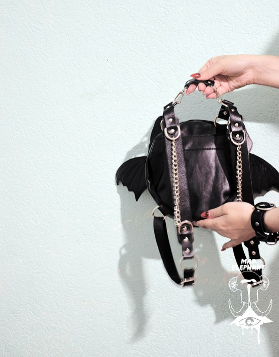 bat backpack goth