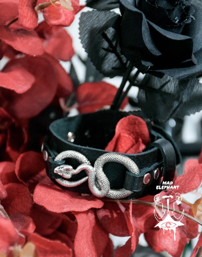 serpent bracelet made of genuine leather