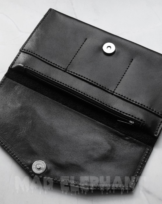 genuine leather wallet, unisex, made of natural leather, gothic accessory