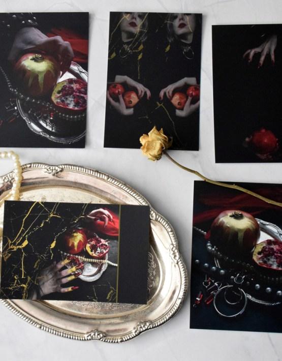 Pomegranate set of postcards