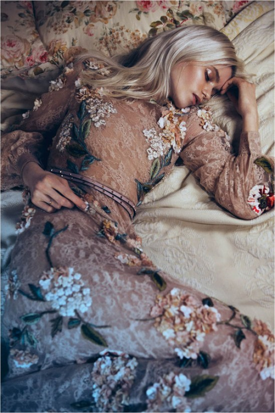 Sadness Vogue Espana Sleeping beauty