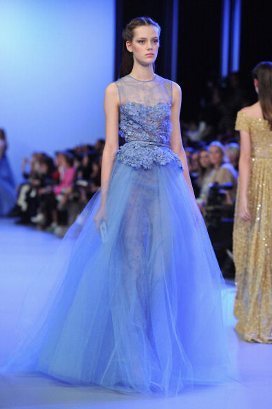 I gathered the tulle of my gown and climbed in bed. Image source: Elie Saab Haute couture 2014