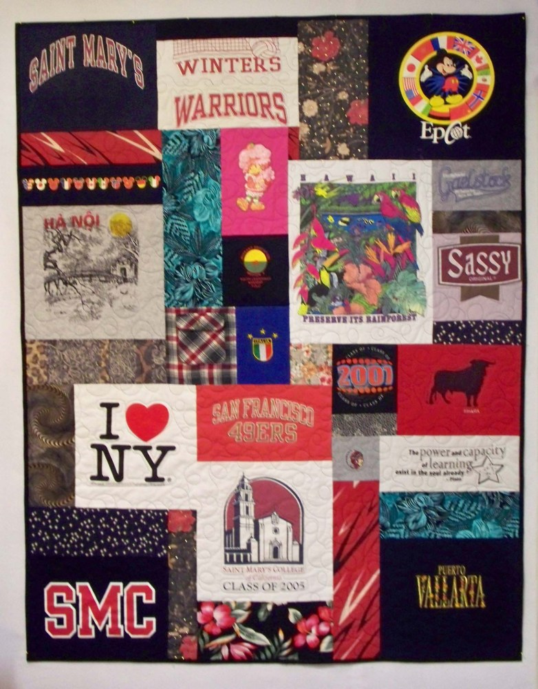 Another T-shirt Quilt Done!