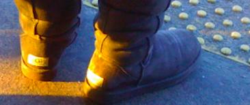 Boots on the Flushing Line Platform