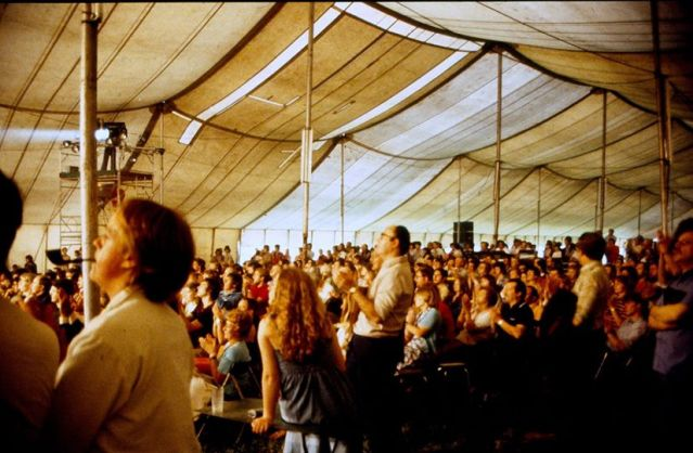 Photo du chapiteau du festival en 1978