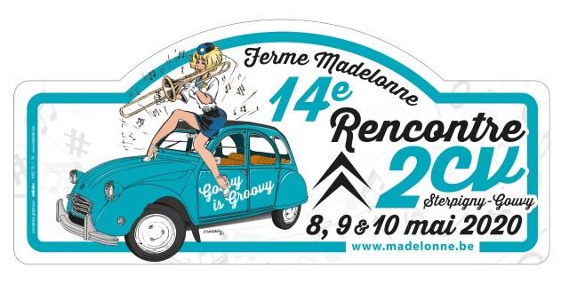Plaque Rallye des 14e Rencontre 2CV 2020