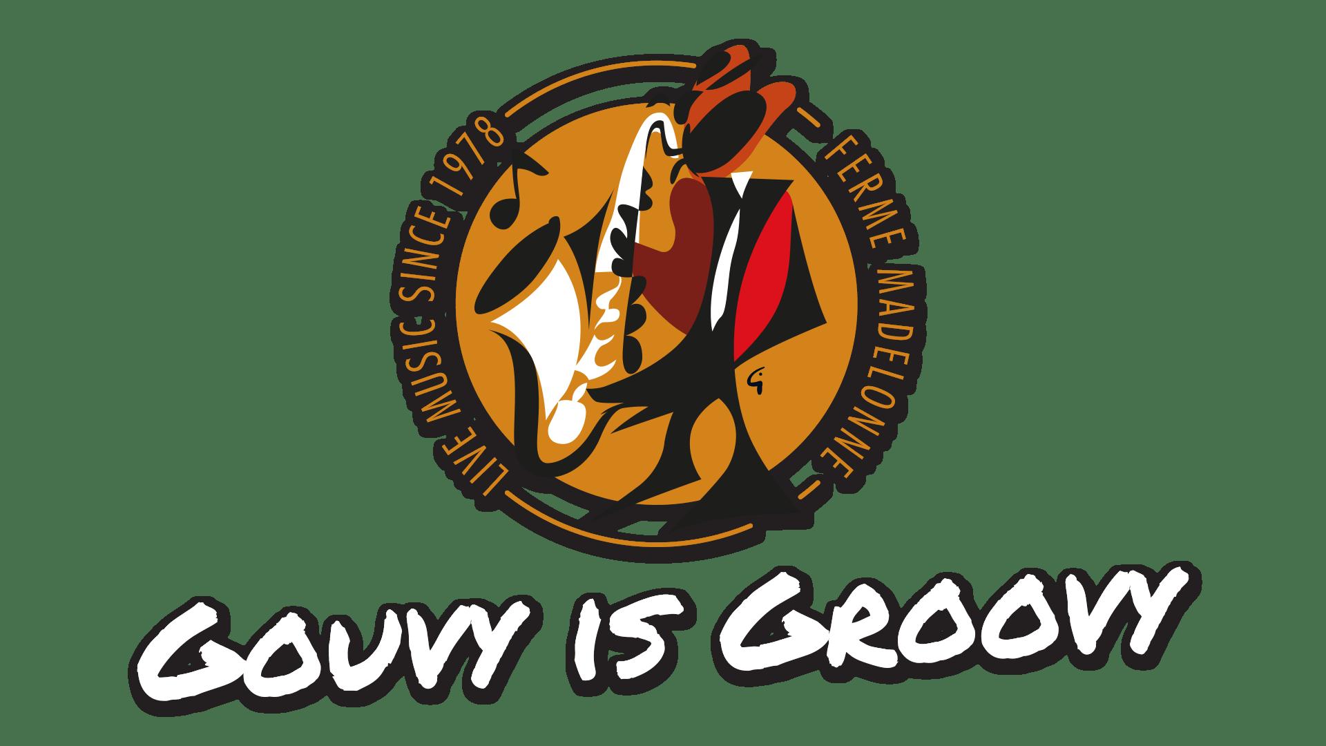 Logo de la Ferme Madelonne + slogan Gouvy is Groovy