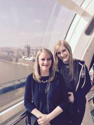 Mom and Mad on the London Eye
