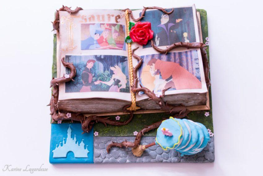 Un anniversaire de princesse - Gâteau La belle au bois dormant