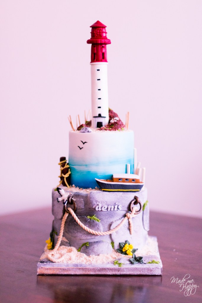Gâteau anniversaire Phare du Cap Ferret - Blog Made Me Happy Bo