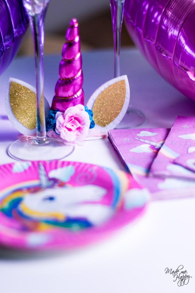 Décoration anniversaire fille - Licorne rose et mauve - Blog lifestyle Bordeaux