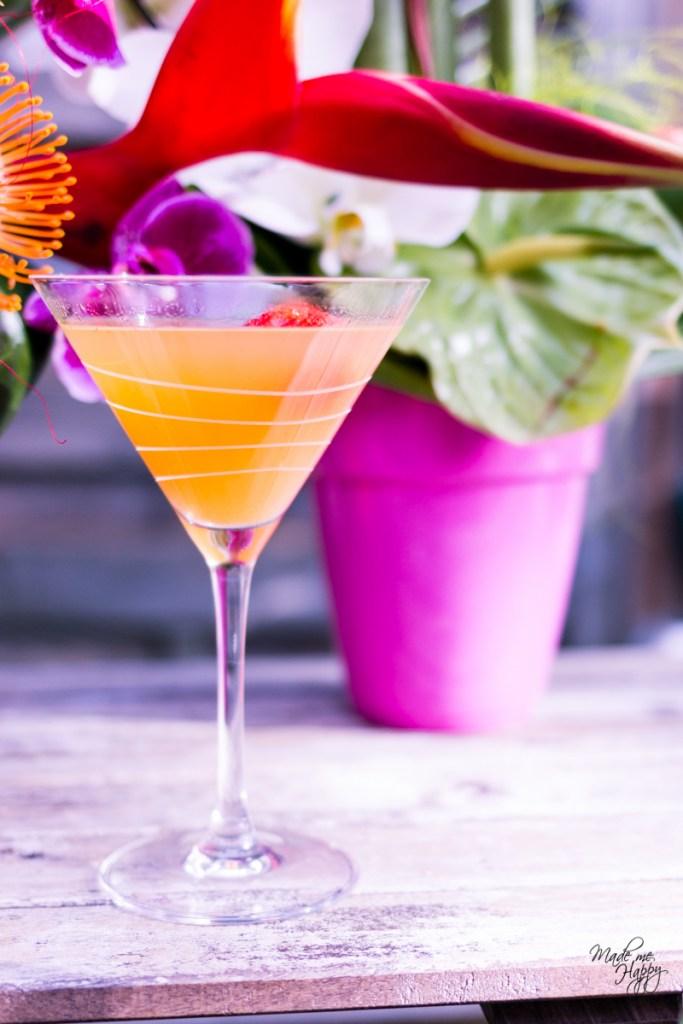 Cocktail champagne pêche - Fête anniversaire - Blog lifestyle Bordeaux