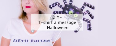 DIY - T-shirt message Halloween - Blog lifestyle Bordeaux