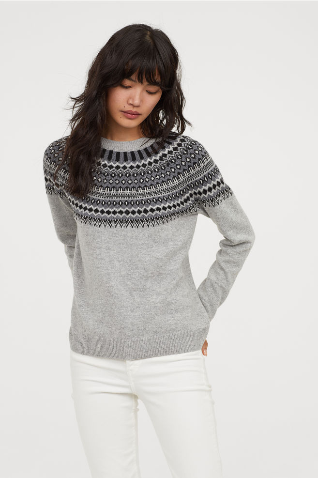Pull Maille Jacquard - Blog lifestyle Bordeaux