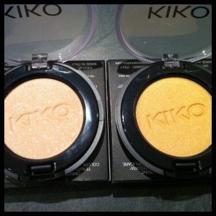 Photo de deux ombres à paupières Kiko