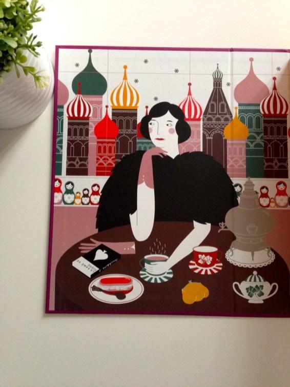 Illustration intérieure La The Box Saint Petersbourg