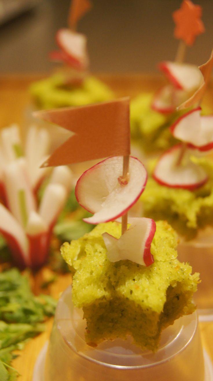 Cake pesto de fanes de radis