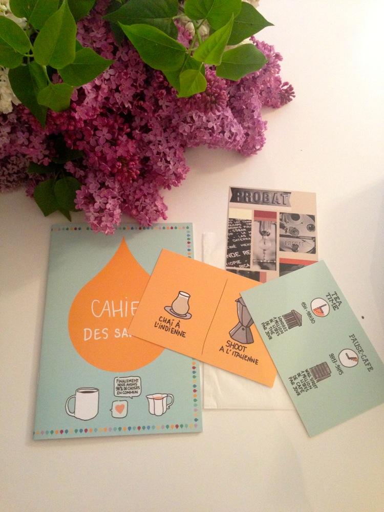 Cahier des saveurs + cartes postales La The Box Mr Grey Mrs Black