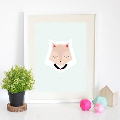Affiche foxy Petite Mila