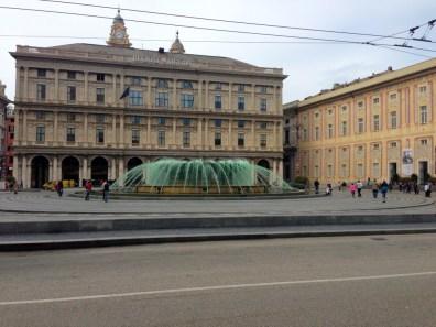 Piazza de Ferrari colorée Genes
