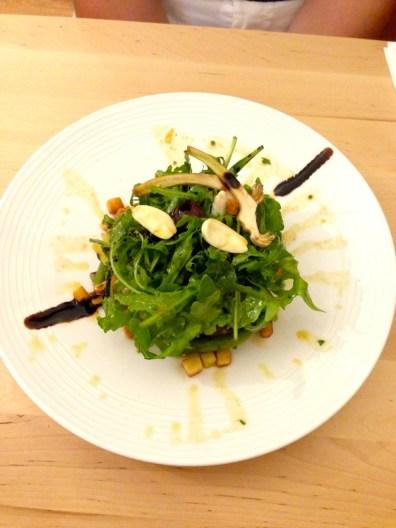 Salade haricots verts et amandes fraiches