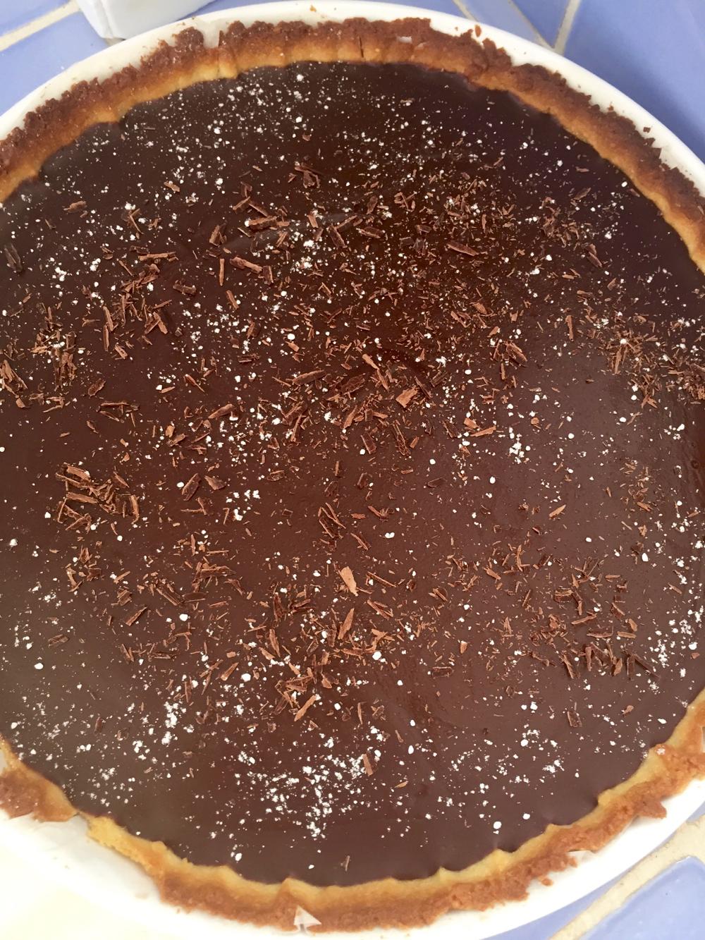 Tarte chocolat noir marron - 1