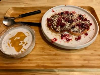 Pudding de chia et pancakes