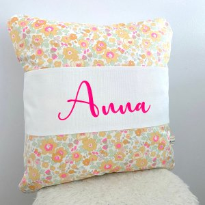 Coussin personnalise liberty