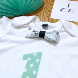 T-shirt anniversaire noeud papillon