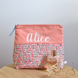 Trousse de toilette liberty personnalisable