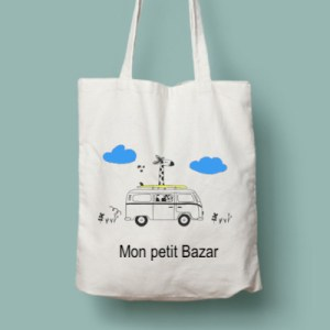 Tote bag illustré personnalisable