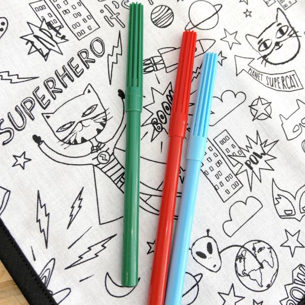 Set à colorier super héros