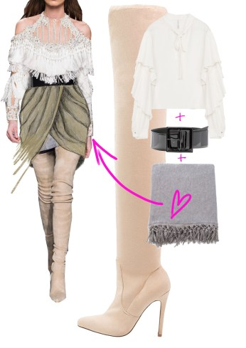 How to wear your scarf differently -- for TheBlondeSalad