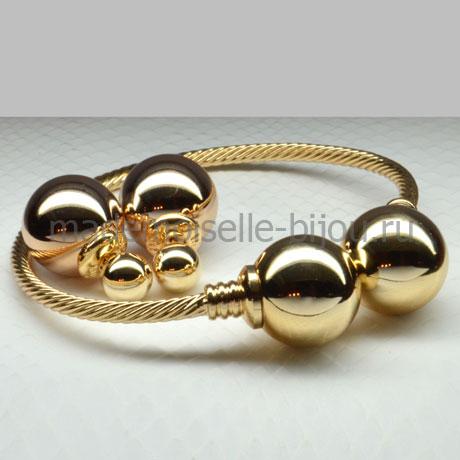 Комплект Серьги и Браслет Fashion Golden Lux