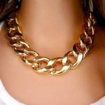 Золотое колье цепь Golden