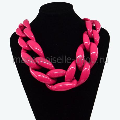 Крупное колье цепь Crimson