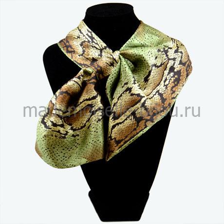 Французская косынка зеленая Snake