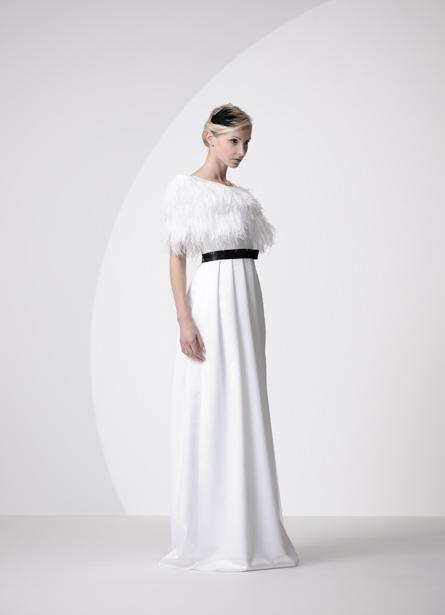 Raffinierte Kleider des Schweizer Labels Gueule d'Ange gibt in der eigenen Boutique in Neuenburg.