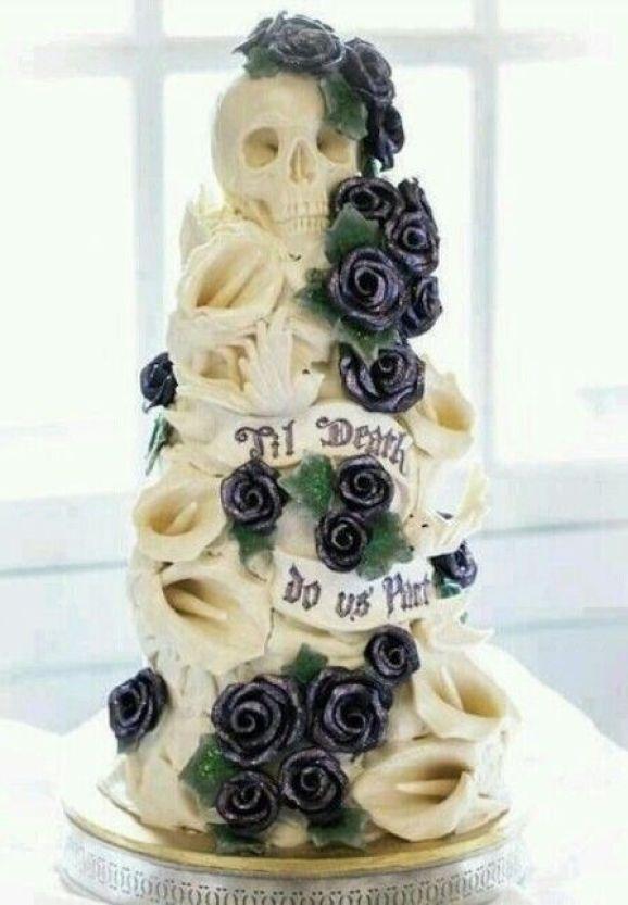 Cheap Skull Wedding Cake Toppers