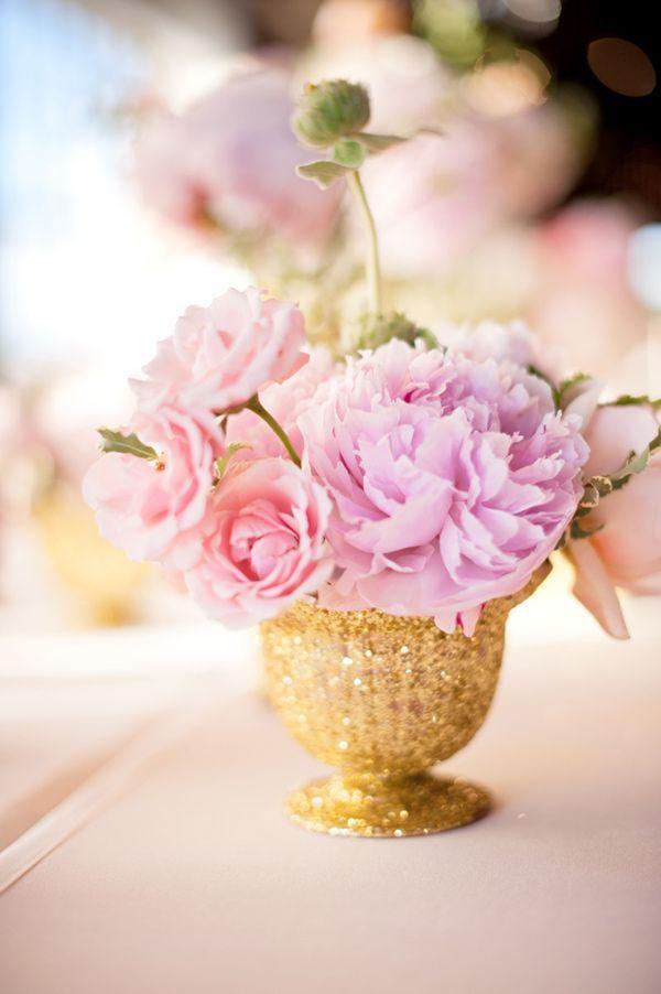 tischdeko pfingstrosen gold rosa lila hochzeit. Black Bedroom Furniture Sets. Home Design Ideas